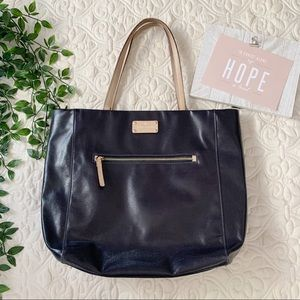 Kate Spade Shiny Black Leather Market Tote